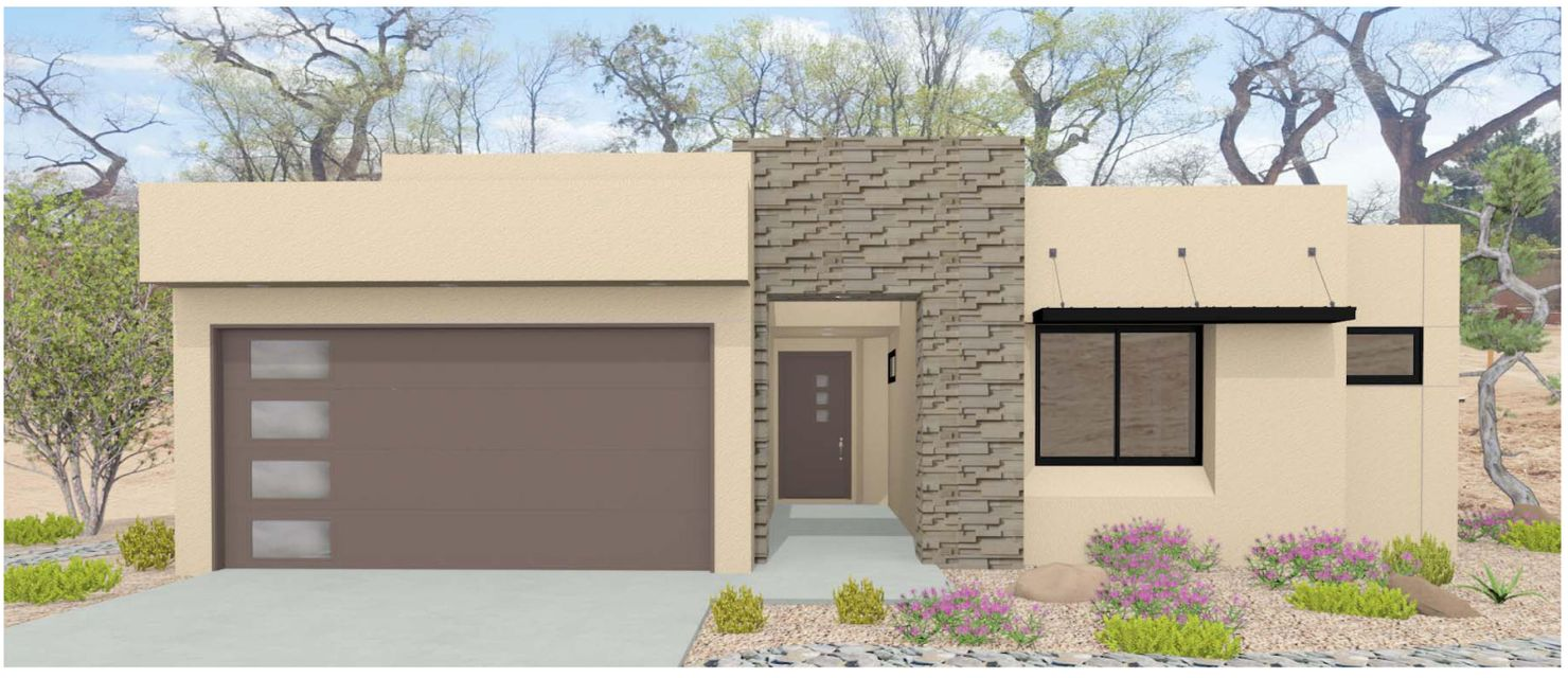 Beautiful Sivage home in gated community At end of Campbell Road with access Bosque walking trails and the Nature center.  Close to shopping, and restaurants on Rio Grande Blvd, Old Town, Downtown and Nature Center. Easy access to I-40 and I-25. Exceptional Contemporary Exteriors and Interiors.