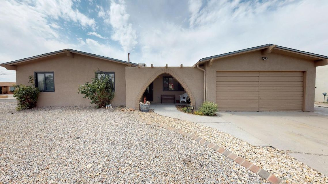 REFRIGERATED AIR INSTALLATION COMPLETED!$10,000 PRICE REDUCTION! FULL INSPECTION & ALL REPAIRS DONE! Taylor Ranch family home with room for everyone all in 1 story. No stairs to climb! Great for entertaining family & friends. Located on large corner cul-de-sac lot. New block wall encloses private BY with entertaining patio & storage shed. Interior custom painted & exterior stucco just completed. Two master suites with private baths. One could be in-law suite with it's own refrigerated air, exit door, water heater & full bath! Newer carpet in bedrooms. Rustic oak laminate wood flooring thru-out hallway, dining, family & great rooms. Office/study has saltillo tile. Fans in bedrooms & FR. Kitchen flows to Family room w/wood burning FP surrounded by oak built-ins