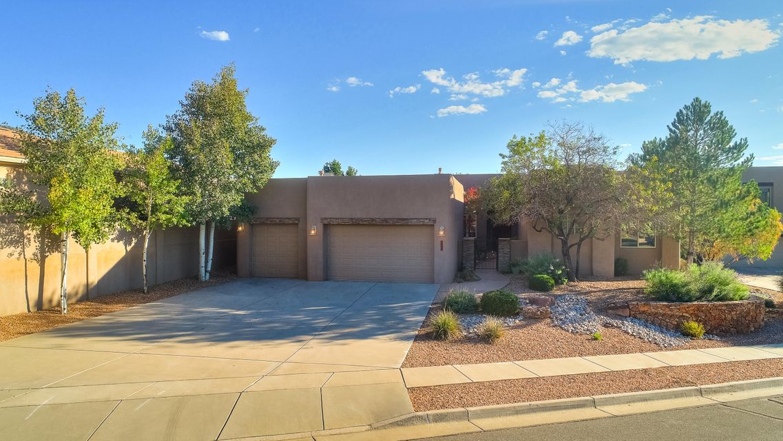 Distinctive Foothills/High Desert! Custom One Level; Upscale, Immaculate & Decorated; 4 BDRM, 4 BA, 3 CG on a Professionally L/S Lot w/a Private BKYD. In-ground, gunite pool, large covered patio w/view deck over the patio & Views! Courtyard entry, tile foyer w/raised ceiling, greatroom w/raised ceiling, custom stacked stone fireplace, view windows & outdoor access to backyard patios & pool. Expansive, open floorplan with greatroom, dining room, kitchen; all open & access to back patio, pool & fireplace. Large, upscale kitchen w/custom cabinets, granite counters, center island, stainless appliances, pantry & dining area overlooking the backyard. 4 BDRMS w/walk-in closets & access to guest baths; separated MBR w/raised ceiling, fireplace, huge walk-in closet & luxury bath. Simply the Best!