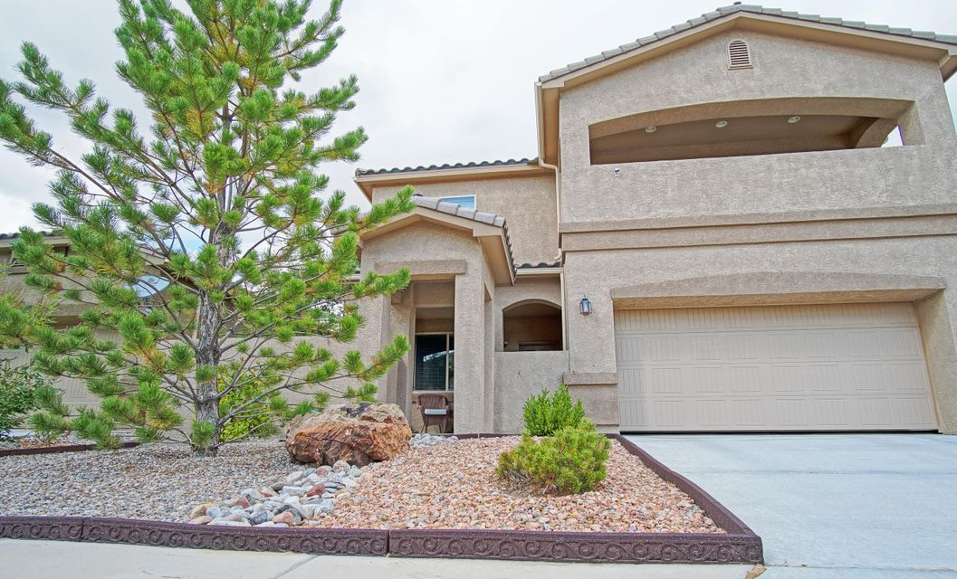 This 4 or 5 bedroom,3 bath, 5 years young home is in close proximity to schools and ready for a new owner.   Great location nestled in the heart of Ventana Ranch. Home offers nice floorplan with office or bedroom with french doors, separate dining as well as breakfast nook with ample cabinet and pantry space plus under stairs storage. 1/2 bath down for guests w/linen storage. Dark wood roll out cabinets & lazy susan, stainless appliances in kitchen and tankless water heater. Upstairs has large loft and laundry room for added convenience. Huge walk in closet in master plus covered balcony. Beautiful low maintenance back yard w/ mountain view, pergola, turf grass, Trex decking with stamped concrete sidewalk. Nothing to do but move in and enjoy. Come and see this great Trails property today!
