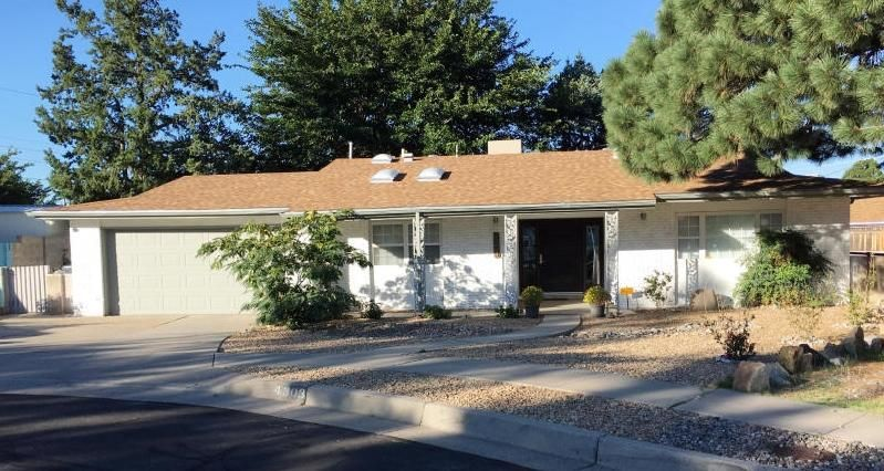 Welcome to this MOVE-IN-READY, Tastefully remodeled 4 bedroom 2 bath home with 1575 SF. New roof in 2018 & new Mastercool in 2017. Impressive custom front door greets you as you walk into the foyer. Kitchen features stunning quartz counter tops, stainless steel appliances, newer cabinets, tile floors & modern lighting. Master is separate from 3 other bedrooms. 4th bedroom can also be an office with French doors. This home is Nestled in a quiet cul-de-sac on a large 1/4 acre lot in the Desert Terrace subdivision. Large covered patio in backyard & Syn lawn makes an ideal entertaining space and perfect play area. Both front and backyard are landscaped with drip irrigation. Centrally located walking distance to schools, shopping, restaurants, movie theaters, golf course & so much more!