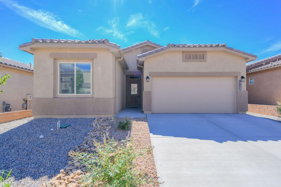 Why wait to build when you can make this beautiful, like new, DR Horton beauty yours? This great Columbia ll floorplan features 1,575sf with 3 bedrooms, 2 full bathrooms and a 2 car garage.  Beautiful kitchen with upgraded espresso cabinetry, granite countertops, mosaic backsplash, stainless steel appliances, pantry and a huge island with seating space. Dining right off of the kitchen! Spacious living area open to the kitchen. Inviting master suite with spa like bath. Bath hosts dual sinks with an oversized vanity, a relaxing garden tub, walk-in shower and closet with built ins! Enjoy the private backyard that is  fully walled with a covered patio!