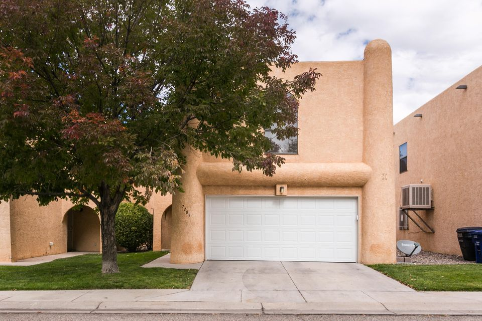 This beautiful home is in the Santa Barbara subdivision and does NOT have a land lease.  You'll enjoy the open living area and cozy gas log fireplace. The kitchen is just off of the living room, great for entertaining.  All 4 bedrooms are generously sized and upstairs with a 1/2 bath downstairs.  Master bathroom has two sink areas great for his and hers.  Laundry room is conveniently upstairs also. The HOA includes a pool, mini golf, tennis courts, and a community garden area.  Some utilities are also included in the HOA pmt.