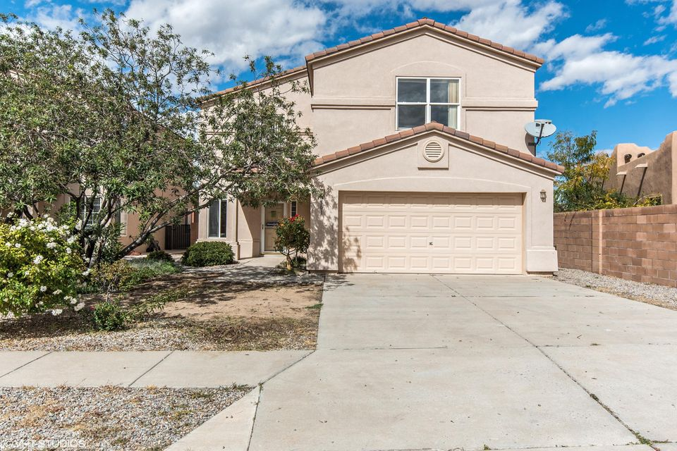 Breathtaking Home! Arched doorways! Formal living area! Kitchen features beautiful tile counter tops & back splash, work space island, copper accent back splash at the stove, good size pantry and breakfast bar! Cozy family roof off the kitchen with raised wood plank ceiling, custom fireplace & new carpet! Large loft 19x14 could be playroom/media room/office! Master suite includes two way gas fireplace, full bath, separate shower, walk in closet & relaxing garden tub that faces the 2 way fireplace! Home is pre-wired for alarm system! Covered patio!