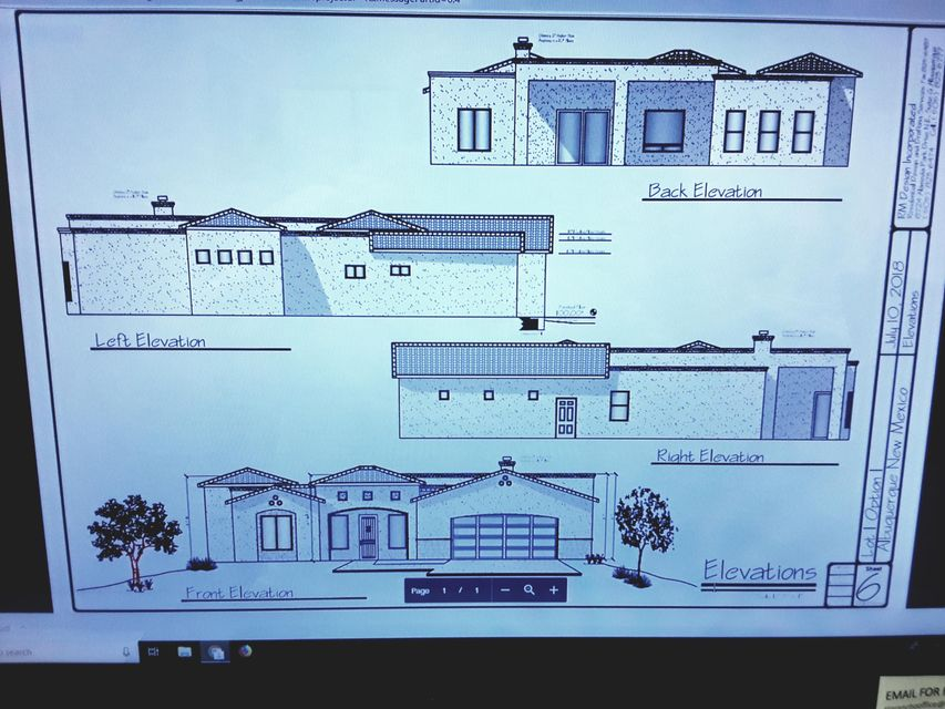 New construction in a fast growing area of Albuquerque. Welcome to Unser Cliffs. This well appointed home has it all. Large bedrooms, Chefs kitchen, Covered porches, and views of the Sandia's. Close to shopping schools, Paseo Del Norte, I 25 and I 40. Great opportunity to pick how you want the home to be finished. No HOA or PID. Call today for details.