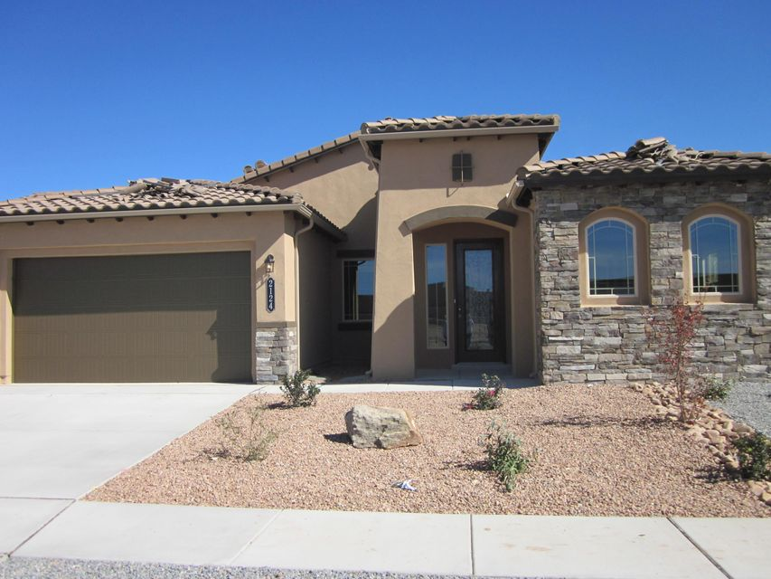 This home will be completed in October and ready for move in. An awarding winning open floor plan great for quality family time. Outstanding covered patio for out door parties. Custom features without the custom price will include 8' interior doors with 5'' baseboard trim with two tone interior paint. All tile in the main living areas. Granite Kitchen tops with built in stainless steel appliances.The baths have tile tub& shower surrounds, granite tops with matching back splash. Mater bedroom is 20' 7'' long for your larger bedroom sets.Certified Green Build New Mexico energy savings. On demand tankless hot water is included in every green build home. Save money, save water. Most of all be comfortable. Green is in!