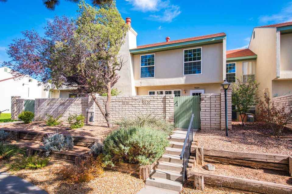 ***OPEN HOUSE - 11/11/18 from 1:00-3:00pm***Come view this charming town home located in the heart of Albuquerque's NE Heights. Home is well built and centrally located in the Little Turtle Homes complex. Home has been lovingly cared for and the bathrooms recently updated along with the newer flooring throughout much of the home. There are 3 bedrooms, all upstairs and the living space downstairs lives quite comfortably. The HOA dues cover in part the exterior maintenance, the water bill as well as access of the community pool and amenities. Don't miss this opportunity for home ownership in a great part of town with easy access to shopping, dining and other conveniences. Have your broker bring you today!