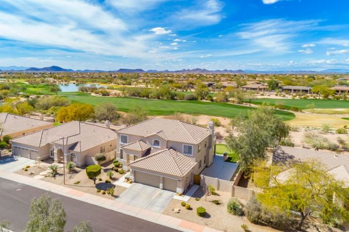 Located on the double fairway of Wildfire Golf Course!