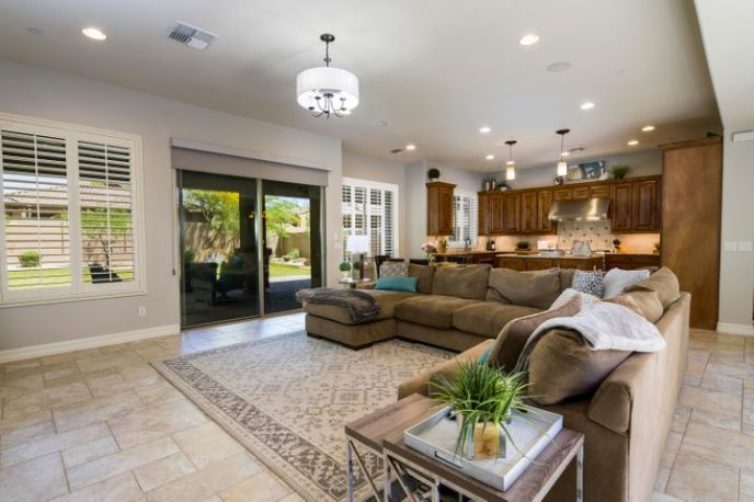 The Kitchen opens to the family room and overlooks the backyard.