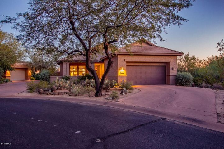 Drive up to your single level home and enjoy life in DC ranch while having extra space between you and your neighbors giving you extra privacy.