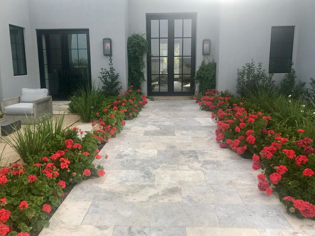 Lush entrance to home