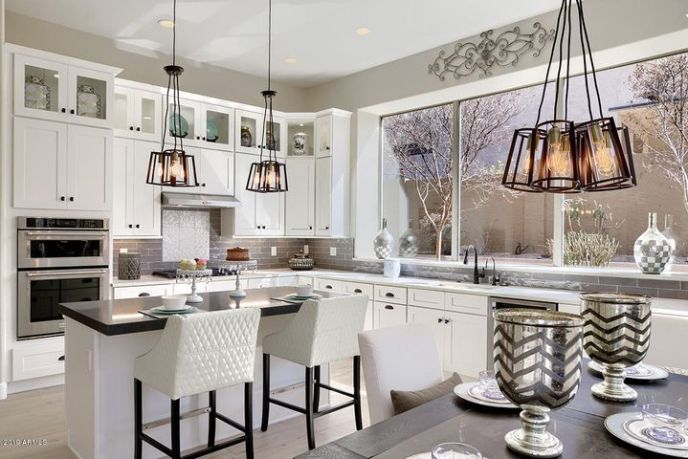 Stunning Kitchen w/ Double Stack Lighted Cabinets