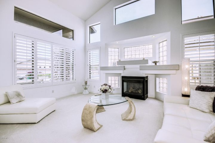 Pristine Home with unique architectural details. Gas Fireplace with Glass Block Bay.