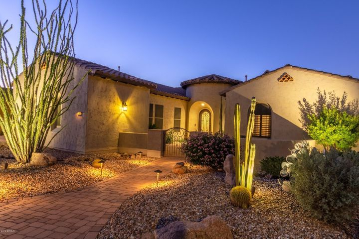 Front of Home-Courtyard at twilight