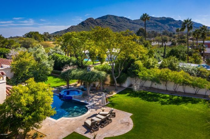 Gated Yard with Mountain Views