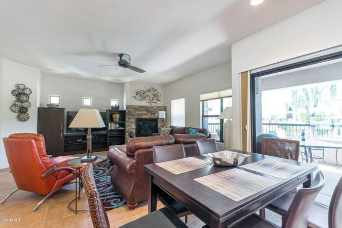 Spacious Open Floor Plan with gas fireplace.