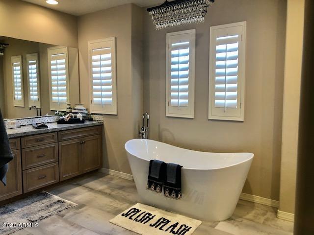 Larger master bath