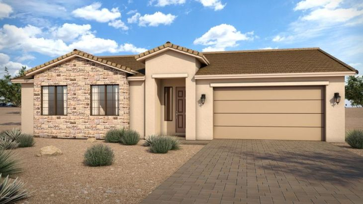 Sample rendering of front of home