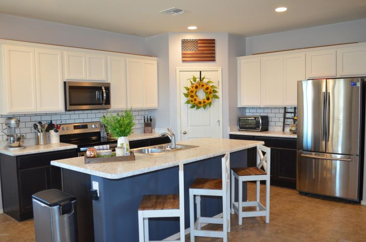 Beautiful designer two color kitchen cabinets