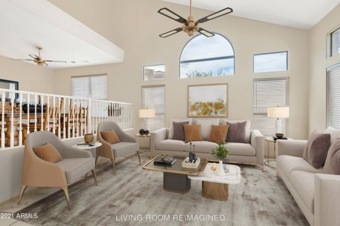 REIMAGINED WITH ACCESSIBLE BEIGE PAINT & NEW FURNITURE