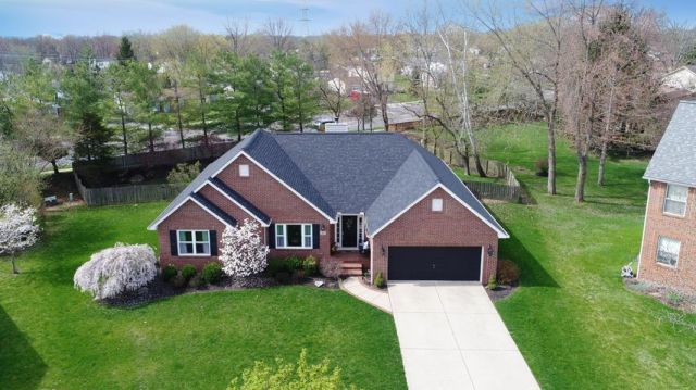 • Brick & Vinyl Exterior • Concrete Drive • Coach Lights • Window Shutter • Keyless Entry • Porch Light • White Painted Doors & Windows • New Lever Locks • New Roof ~ 2017/2018 • Fenced Yard • New Windows ~ 2018 • New Hardwood Flooring In Entry ~ 2006 • New Hardwood Flooring In Dining Room, Great Room & Hall To Bedrooms ~ 2015/2016 • Kitchen Updated ~ 2014 • New Pendant Lights, Granite Countertops, Frigidaire Electric Range & Kenmore Dishwasher ~ 2014 • New Hardwood Flooring In Kitchen & Dinette ~ 2006/2007 • New Hanging Light In Dinette ~ 2012 • New Genie Electric Door Opener ~ 2015/2016 • New Silver Grey Carpet In Owner's Bedroom & Walk-In Closet ~ 2014 • New Lighted Ceiling Fan In Owner's Suite ~ 2014 • Owner's Bath Updated ~ 2016 • New Light Sand Carpet & Ceramic Tile Flooring At Landing In Basement ~2014 • New Light Sand Carpet In Recreation Room & Billiards Area ~ 2014 • Dry Bar & Dart Board Do Not Do Not Remain • Hanging Light & Pool Table Do Not Remain