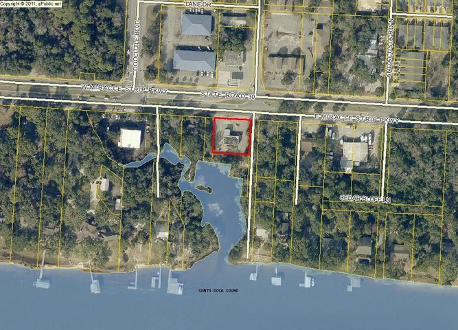 Very unique waterfront property that is located on the south side of Hwy 98 in Mary Esther, FL close to Target. There are five parcel IDs that are included in this sale for the total of approximately 1.7 acres. Lots of possibilities for this location with ~320 ft of highway frontage and water access.