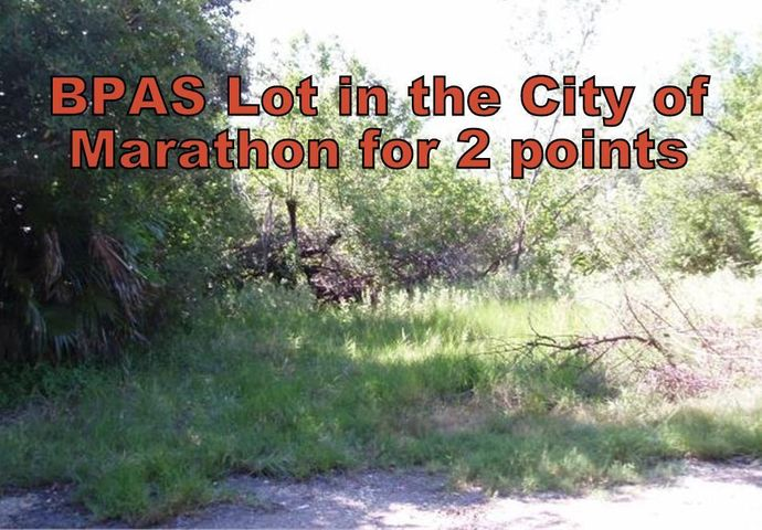 Get 2 points in the BPAS system toward an allocation for your buildable lot quicker!!