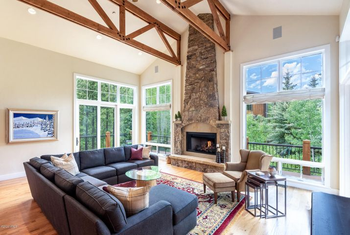 Have you been looking for the perfect home in the most beautiful part of East Vail but haven't found it yet? Well, here it is! Kyle Webb remodel in 2013. Meticulously cared for by the owners, this lovely home has the most perfect location and design and is only minutes by bus or car from Vail Village. In a private and quiet cul-de-sac, this home has some of the best views of both the East Vail Chutes and portions of the Gore Range. The driveway and walkway to the house have snow-melt with a dedicated high-efficiency boiler. 2 laundry rooms, wet-bar, media room, whole house water filtration system, 2 steam showers, a beautifully designed climate controlled wine room and mud room. A new roof was installed in 2020. For added convenience, the home has 2 microwaves, 2 gas fireplaces, 2 refrigerators and 2 dishwashers. There is also a high-end built-in sound system for the media room and throughout the home including outside around the massive deck. There is substantial parking on the heated paver driveway, and the home has 3 master suites adding to the comfort and privacy of this exceptional property. Plenty of room for family and friends with the option of sending the kids downstairs to watch a movie or play ping-pong while the adults enjoy wine upstairs, this home is far and above the best opportunity in East Vail.