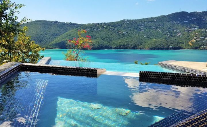 Can you imagine looking at this view every day from your pool?