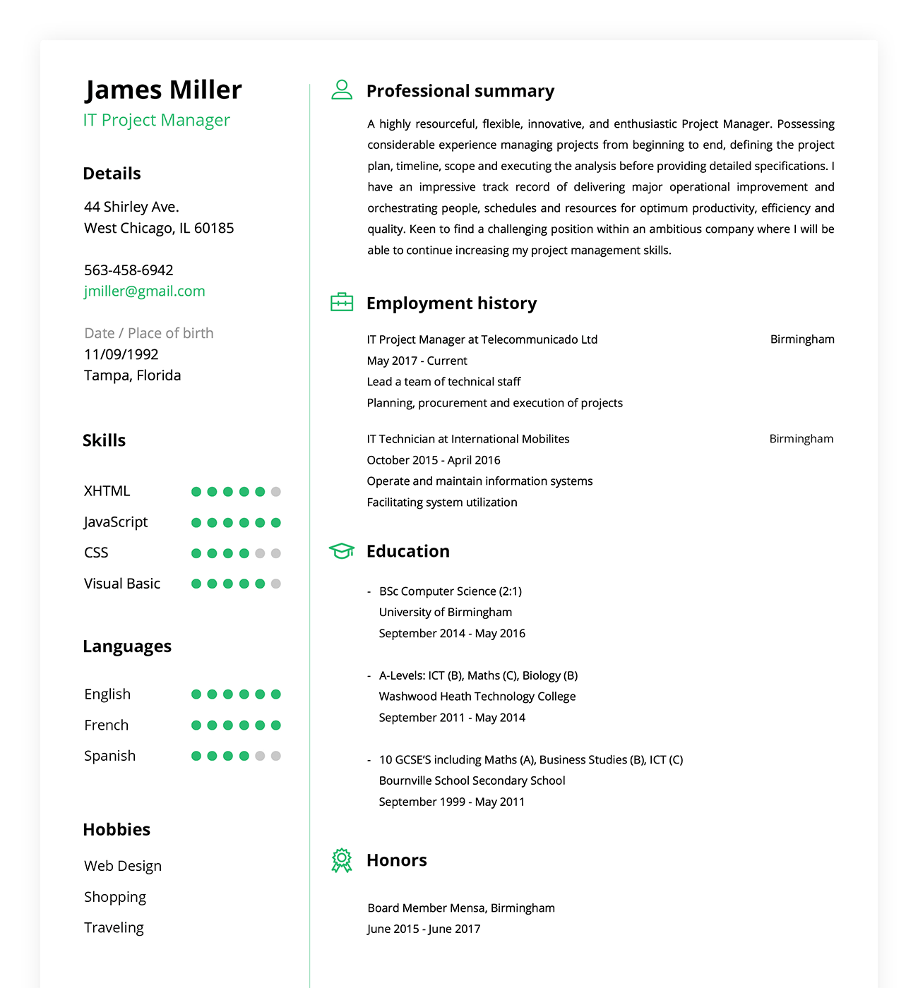 Resume Maker Online Create A Perfect Resume In 5 Minutes
