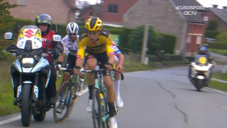 Julian Alaphilippe says he doesn't blame moto rider for Tour of Flanders crash