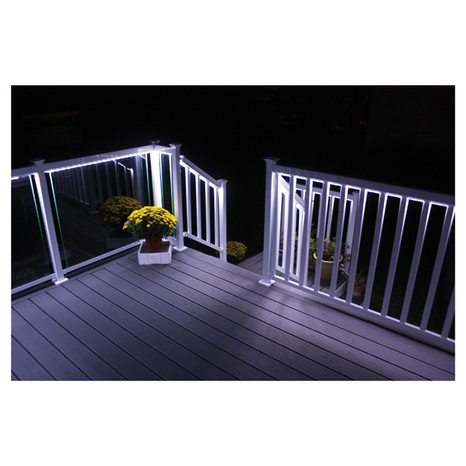 regal ideas led lighting strip for 78 in railing section white gold blue