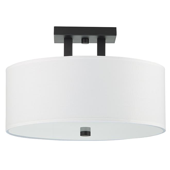 semi flush mount ceiling light 15 x 10 matte black