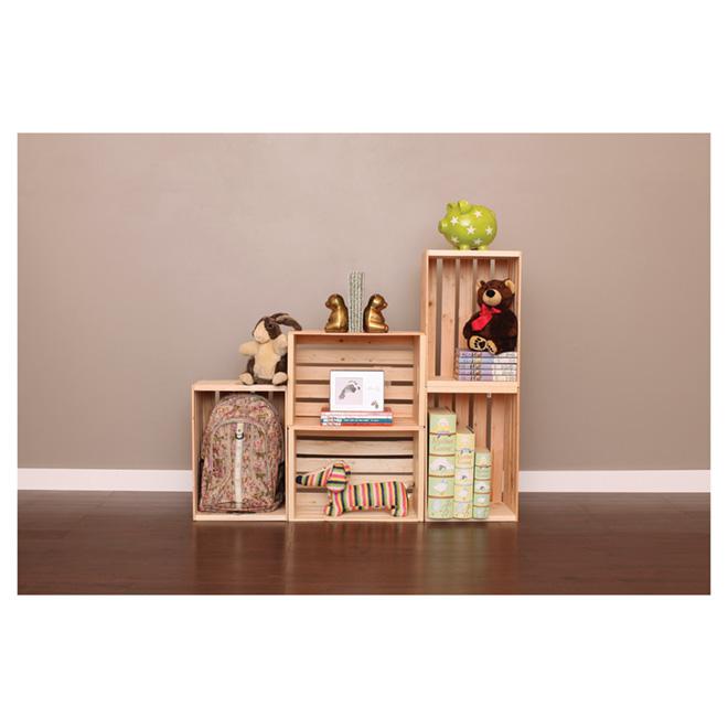 adwood wood storage box pine 17 5 x 12 5 x 9 5