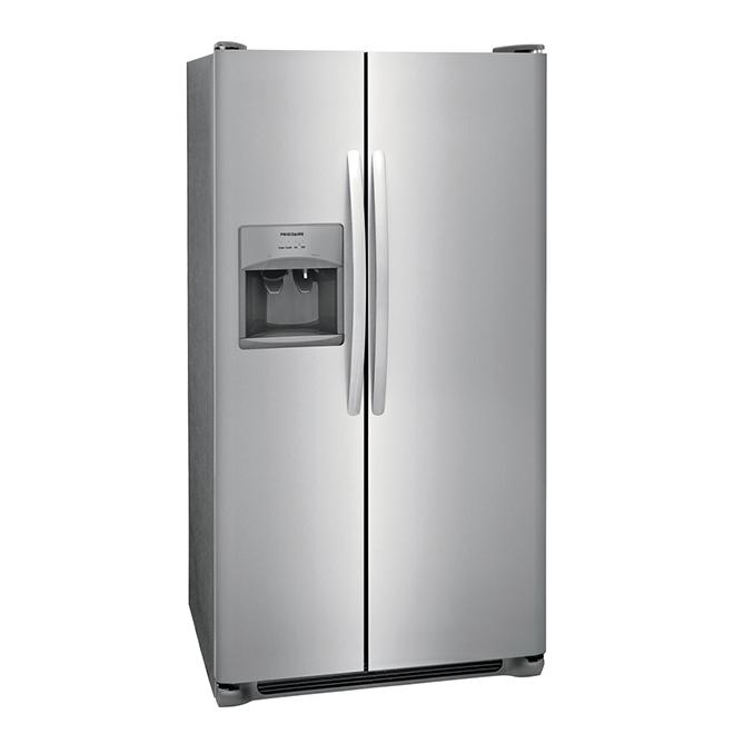 refrigerateur cote a cote frigidaire md 36 25 5 pi inox