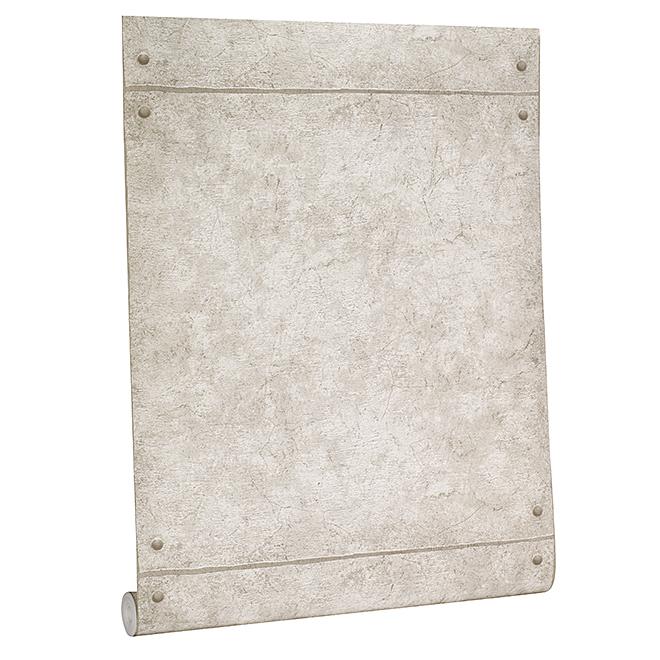 papier peint aspect bloc de beton 56 pi gris pale