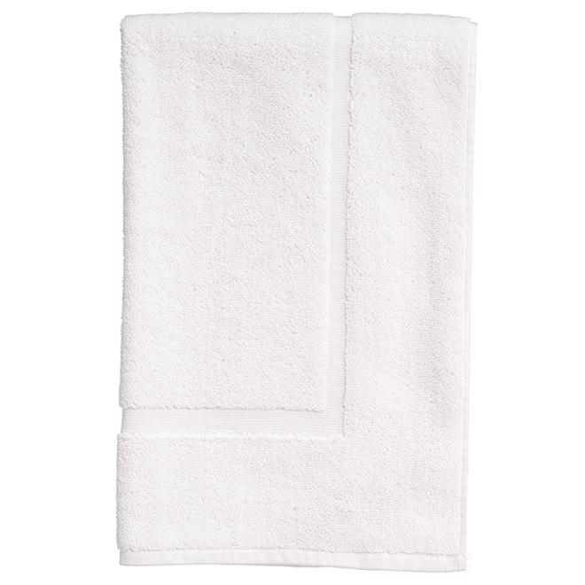 tapis de salle de bain en coton allure blanc