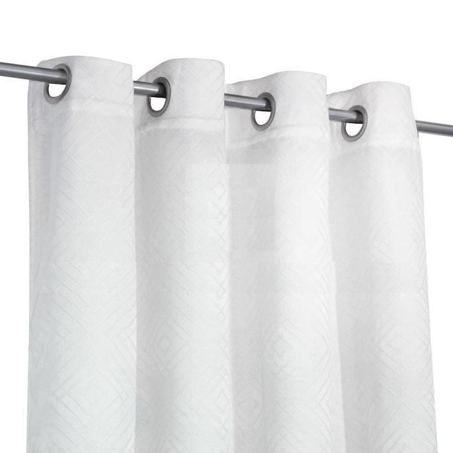 rideaux coupe lumiere safdie co jacquard 54 po x 84 po blanc ensemble de 2