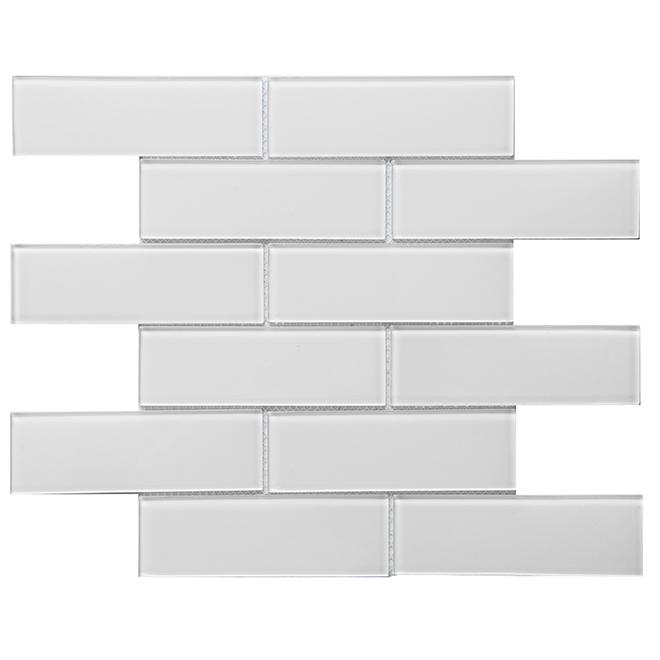 glass mosaic 12 x 12 10 box super white