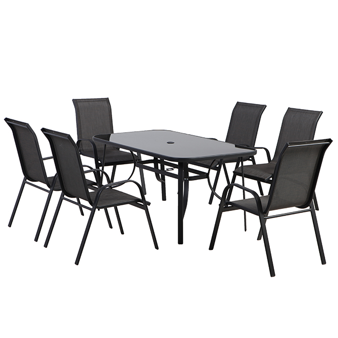 styles selections patio dining set florence grey 6 places