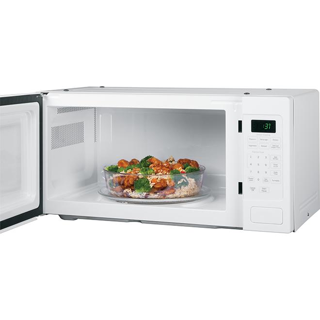 ge profile countertop microwave oven 800 w 1 1 cu ft white
