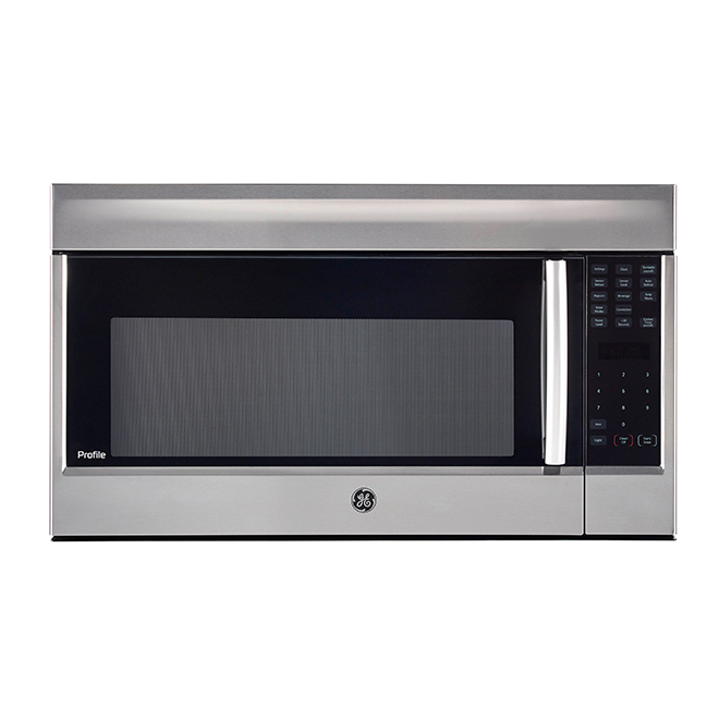 ge profile over the range microwave with convection cooking 1 8 cu ft pvm1899sjc rona