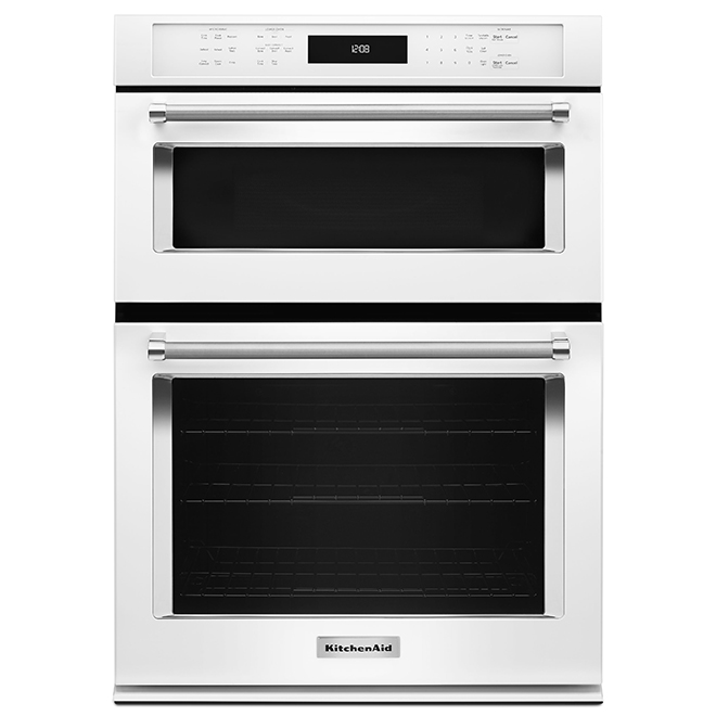 kitchenaid r electric wall oven combination 27 white