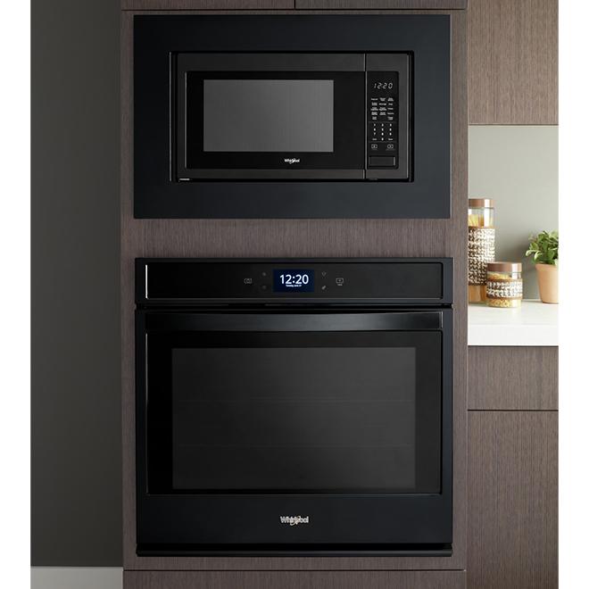 microwave trim kit 30 black stainless steel