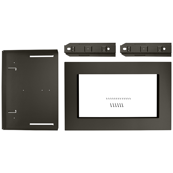 microwave oven trim kit 27 black stainless steel