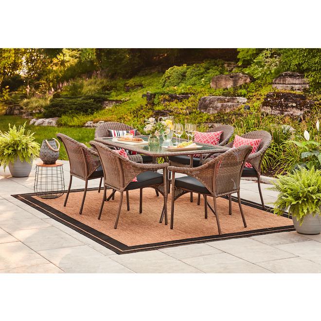 outdoor indoor area rug new haven 8 x 10 ft brown black