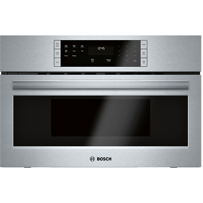 bosch built in microwave oven 30 1 6 cu ft stainless