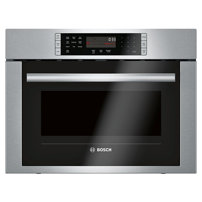 bosch combination wall oven 1 6 cu ft 24 stainless