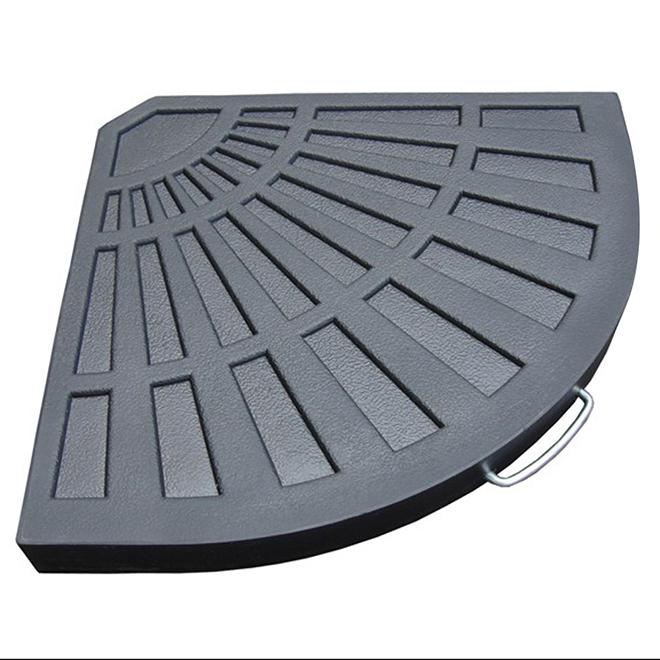 allen roth concrete filled resin offset umbrella base 18 1 2 in grey