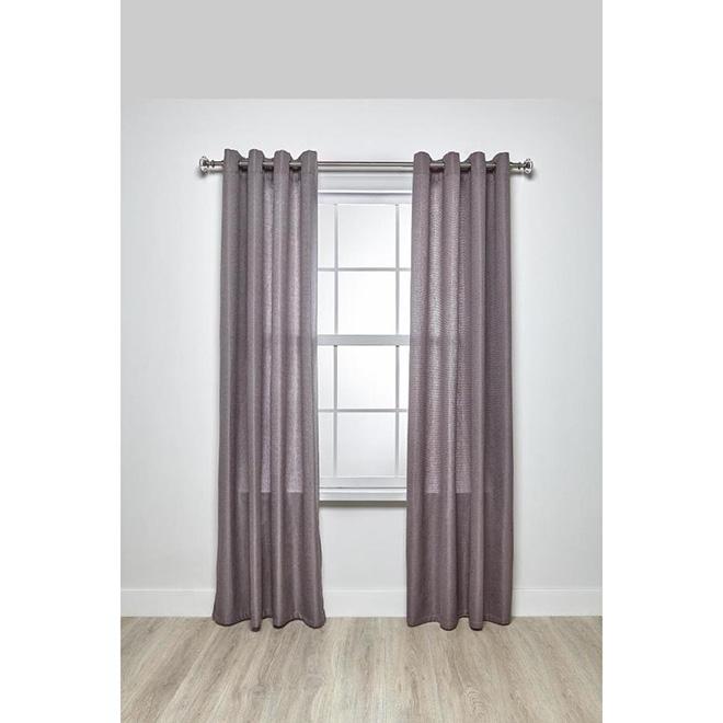 steel curved curtain rod 36 72 nickel